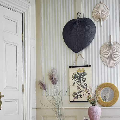 Bloomingville Wanddecoratie set/2 Palmblad - Naturel