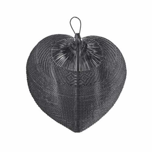 Bloomingville Wanddecoratie Bamboo hart 65cm - Zwart