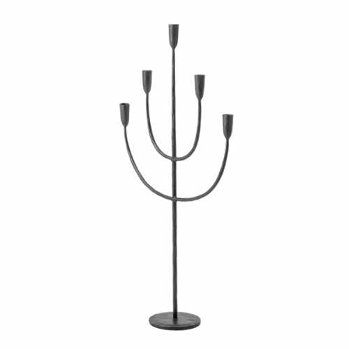 Bloomingville Kaarsenhouder voor 5 kaarsen - Zwart Metaal