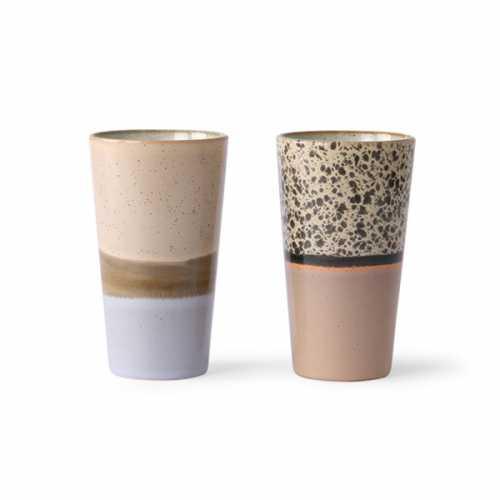 HKliving 70's Latte mok - set/2