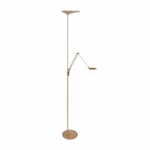 Vloerlamp met leesarm 2-lichts LED - Brons