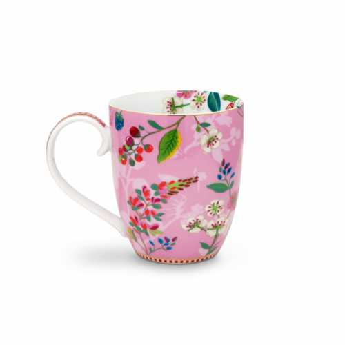 Pip Studio Hummingbirds Mok XL - Pink
