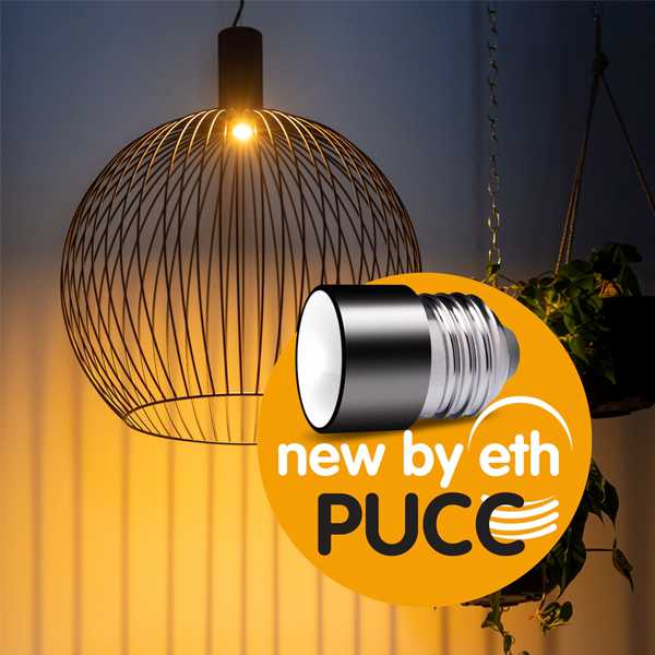 ETH Lichtbron The PUCC - E27 3 stappen LED 3.5W/1.8W/0.7W