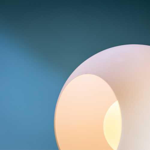 Tafellamp Orb 25cm - Smoke glas