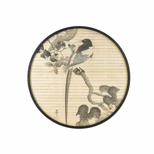 Wanddecoratie rond Morita Bird - 60cm