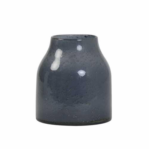 Vaas SONALA 18x21cm glas steenslag - Grijs