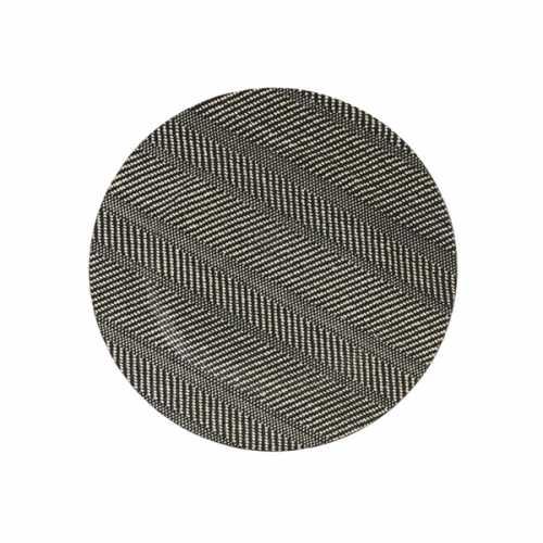 Schaal kunststof 33cm TEMTAS visgraat patroon - Naturel/Zwart