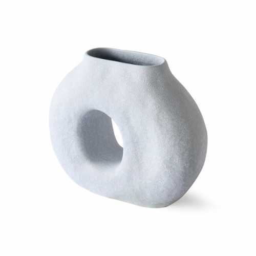 HKliving Organic vaas Circle - Matt Ice Blue