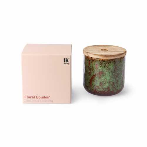 HKliving Geurkaars keramiek - Floral Boudoir