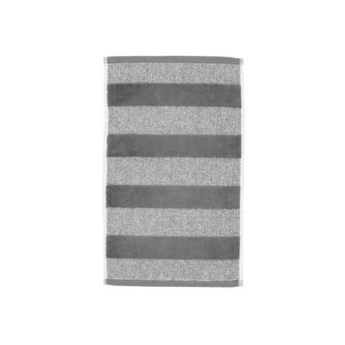 Sheer Stripe Gastendoek (30x50cm) - Antraciet
