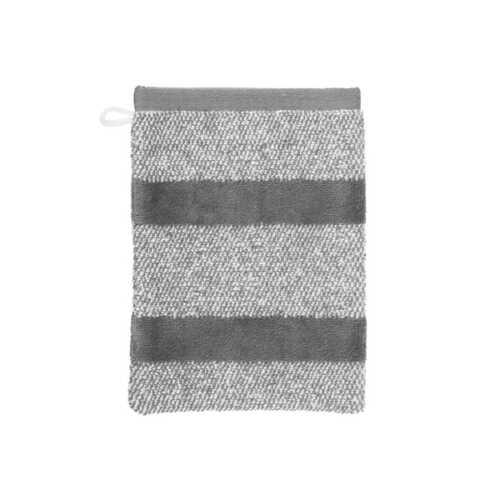 Sheer Stripe Washandje (16x22cm) - Antraciet
