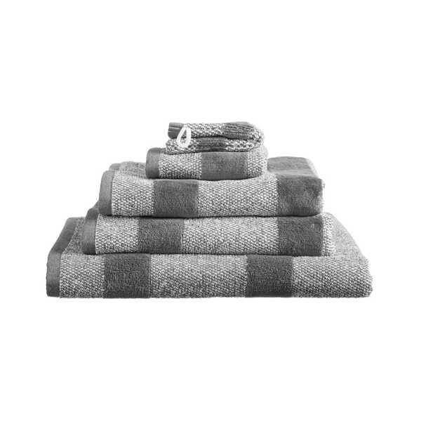 Sheer Stripe Handdoek Large (60x110cm) - Antraciet