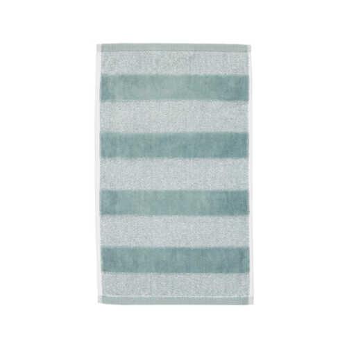 Sheer Stripe Gastendoek (30x50cm) - Groen
