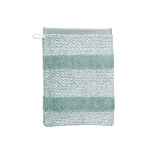 Sheer Stripe Washandje (16x22cm) - Groen
