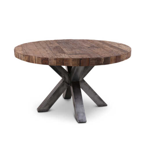 Eettafel Stef gerecycled hout - Rond 140cm