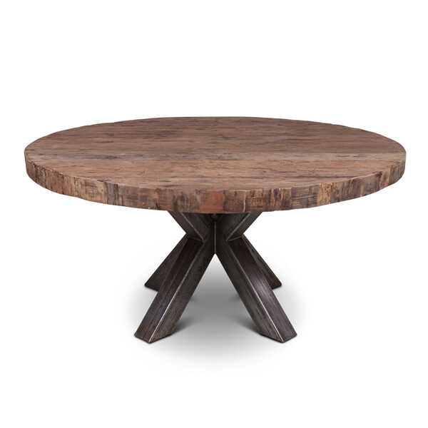Eettafel Stef gerecycled hout - Rond 160cm