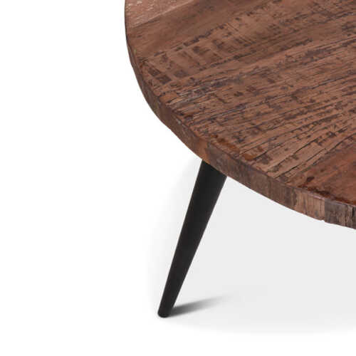 Eettafel Stef gerecycled hout - Rond 80cm