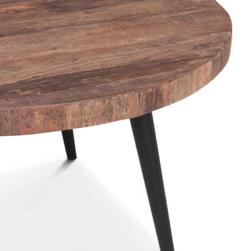 Salontafel Stef gerecycled hout - Rond 80cm