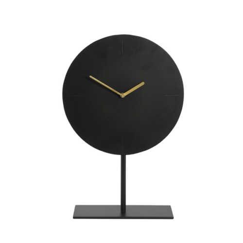 Klok op voet WAIWO 45cm - Mat Zwart/Goud