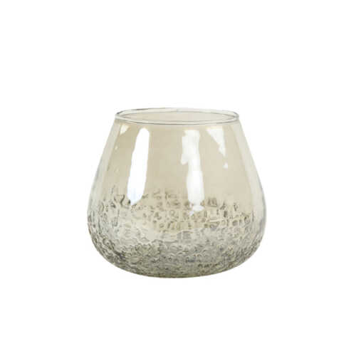 Theelicht 14x14cm PARATA glas - Smoke