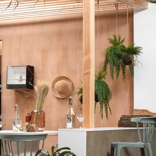 WOOOD Kunst hangplant Varen 30cm - Groen