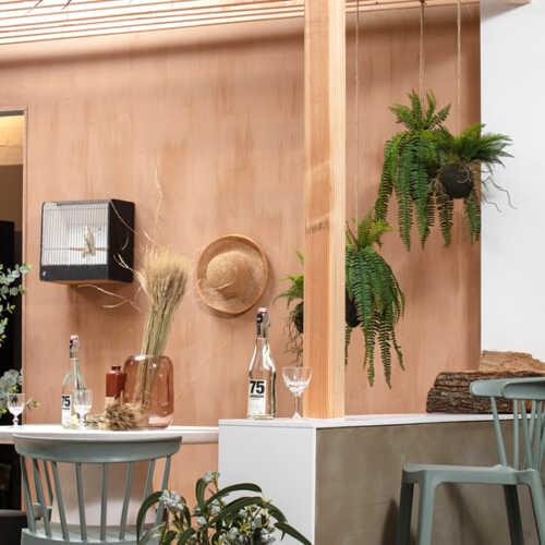 WOOOD Kunst hangplant Varen 58cm - Groen