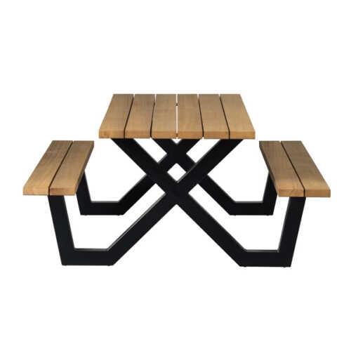 WOOOD Outdoor picknicktafel naturel met X-poot