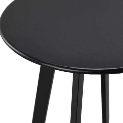 WOOOD Bijzettafel metaal Fer 40cm - Zwart