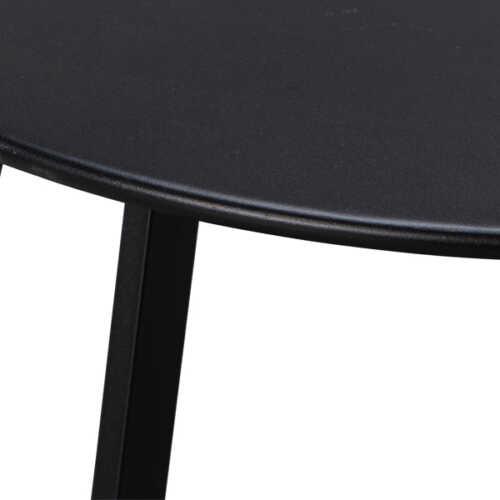 WOOOD Bijzettafel metaal Fer 70cm - Zwart
