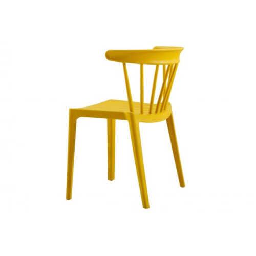WOOOD Kunststof stoel Bliss - Oker geel