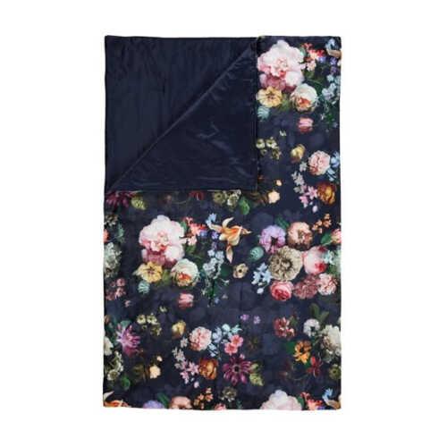 ESSENZA Fleur plaid 135x170cm - Nightblue