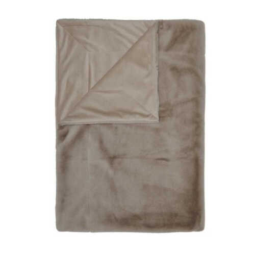ESSENZA Furry plaid 150x200cm - Taupe