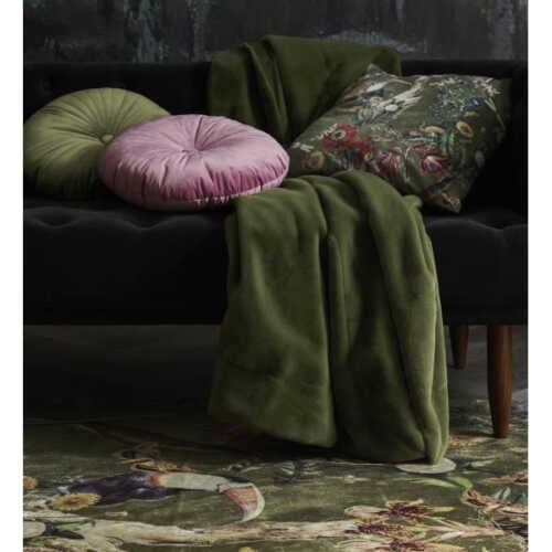 ESSENZA Furry plaid 150x200cm - Moss