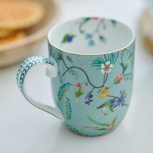 Pip Studio Jolie Flowers Mok klein - Blauw