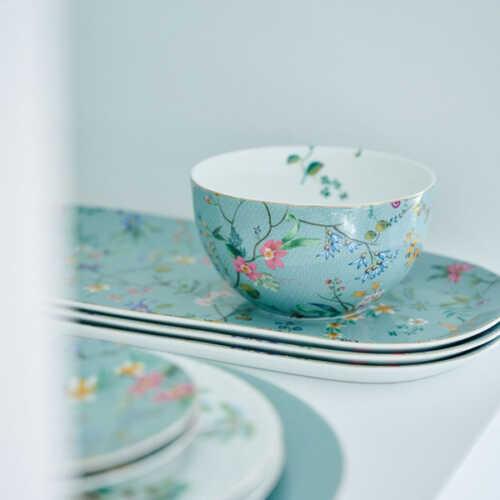 Pip Studio Jolie Flowers Kom 12cm - Blauw