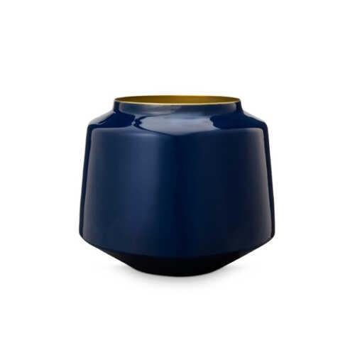 Pip Studio Vaas metaal 22cm - Blauw