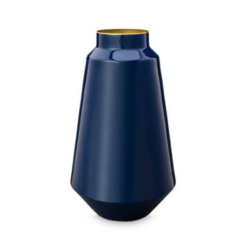 Pip Studio Vaas metaal 36cm - Blauw