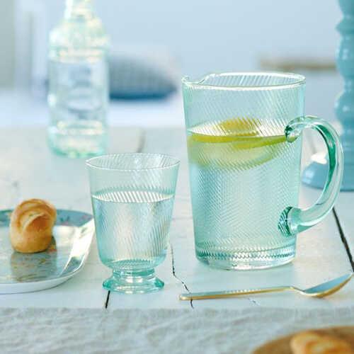 Pip Studio Waterglas Twisted - Blauw