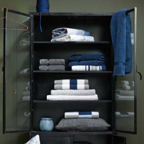 Vandyck ONTARIO Handdoek (68x127cm) - Jeans Blue