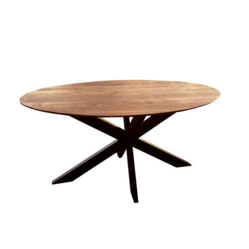 Eettafel ovaal Jeffrey met verjongd blad - 210cm