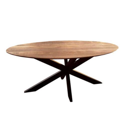 Eettafel ovaal Jeffrey met verjongd blad - 240cm