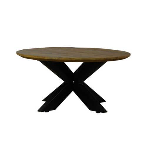 Eettafel rond Jeffrey met verjongd blad - 120cm