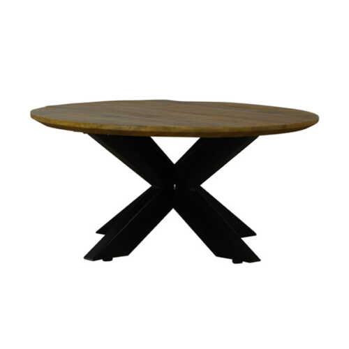 Eettafel rond Jeffrey met verjongd blad - 130cm