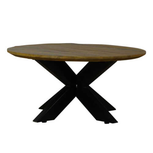 Eettafel rond Jeffrey met verjongd blad - 150cm