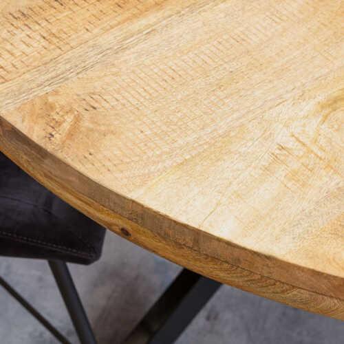 Eettafel rond Jennifer met zwart onderstel - 120cm