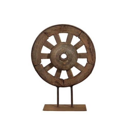 Houten wiel op standaard 40cm