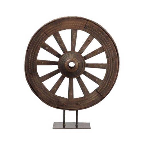 Groot wiel op standaard 110cm