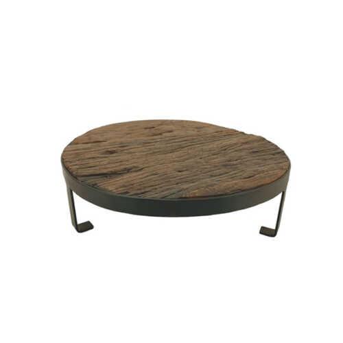 Plateau rond uniek hout - 30cm