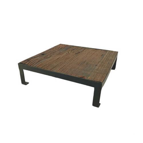 Plateau vierkant uniek hout - 30cm