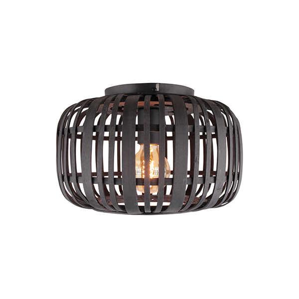 Plafondlamp Treccia 34cm - Rotan Zwart